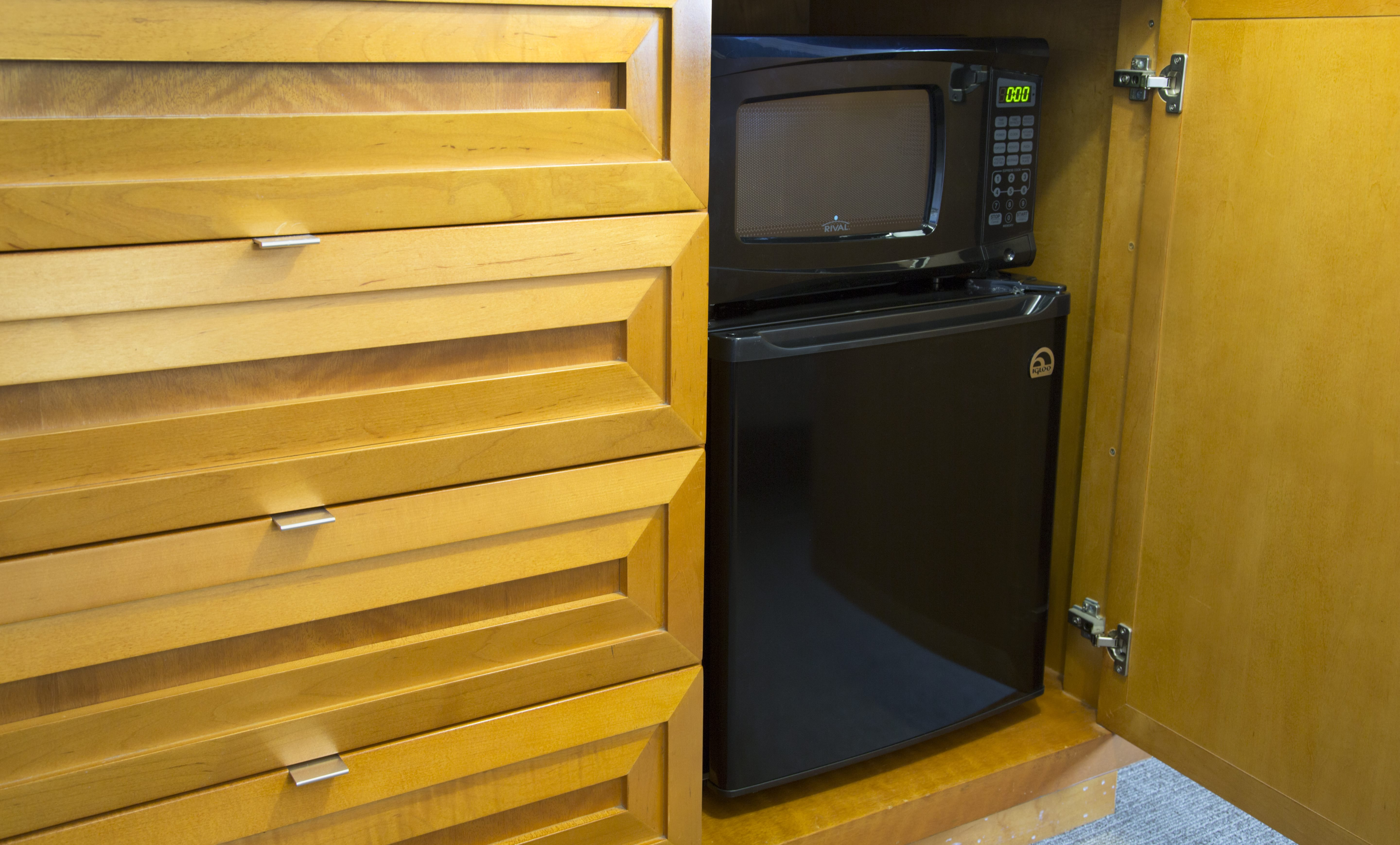 In-Unit Fridge and Microwave